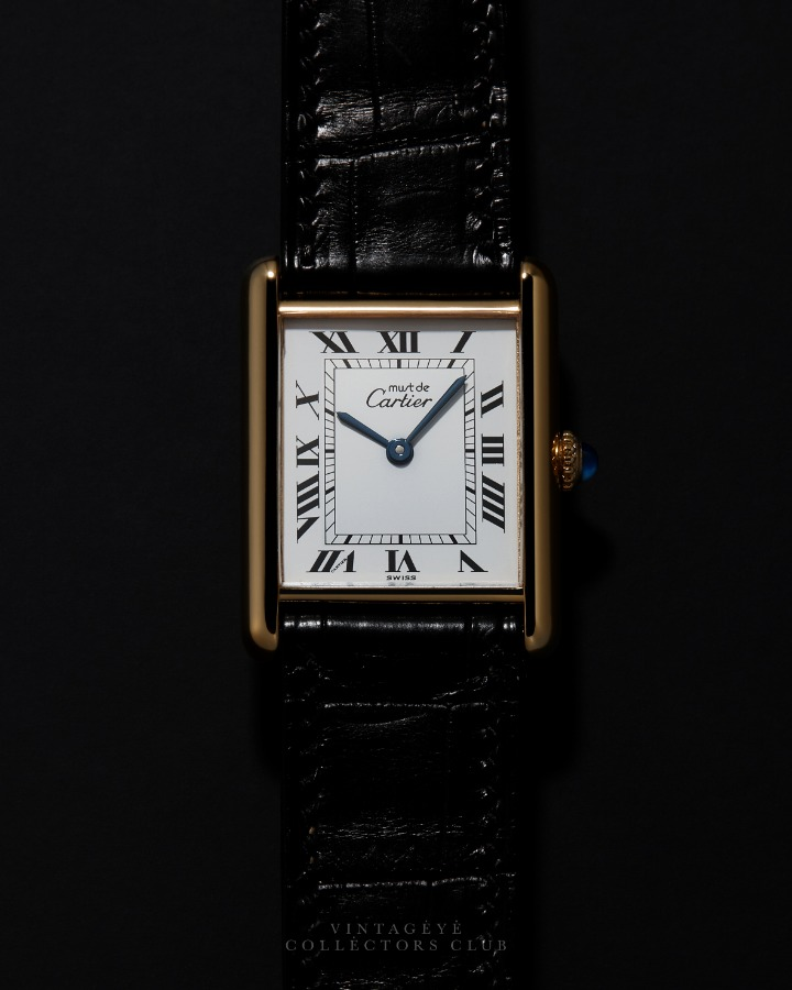CARTIER@1980s Must Tank Large M 076