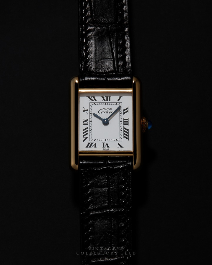 CARTIER@1980s Must Tank Small M 068