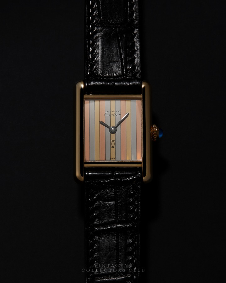 CARTIER@1980s Must Tank Trinity Small 033